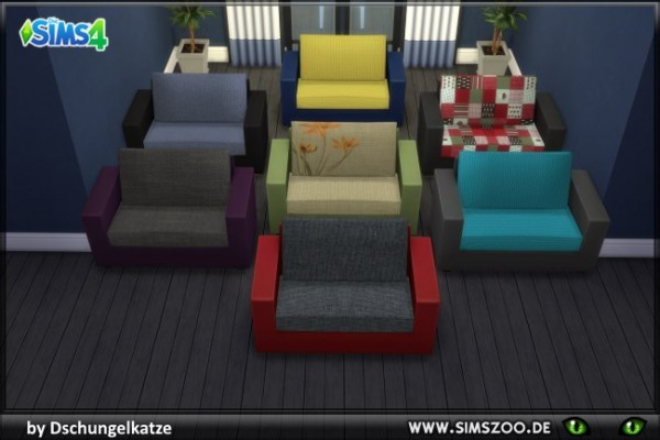 Blackys Sims 4 Zoo: DK couch 2 by Dschungelkatze