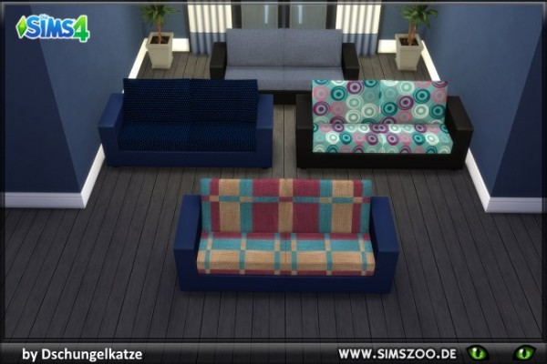 Blackys Sims 4 Zoo: DK couch by Dschungelkatze