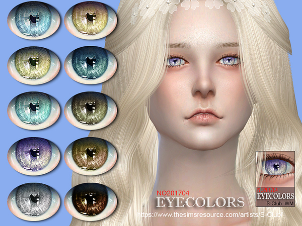 The Sims Resource: Eyecolors 201704 by S Club
