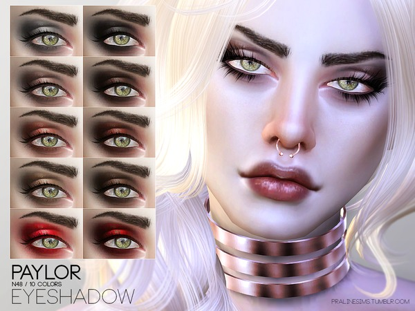 The Sims Resource: Paylor Eyeshadow N48 by Pralinesims