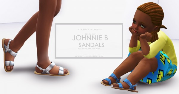Onyx Sims: Johhnie B sandals for toddlers