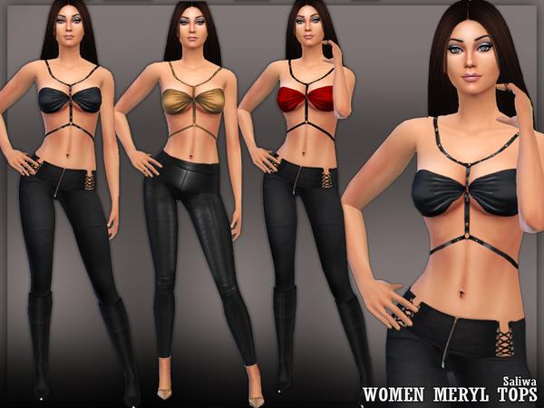 The Sims Resource: Ladies Meryl Tops by Saliwa