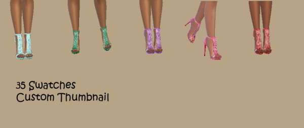 Simsworkshop: Madlen Shoes Recolored by CandySimmer