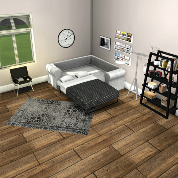Leo 4 Sims Sofa Bed Sims 4 Downloads
