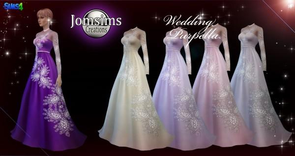 Jom Sims Creations: Purpella wedding dress