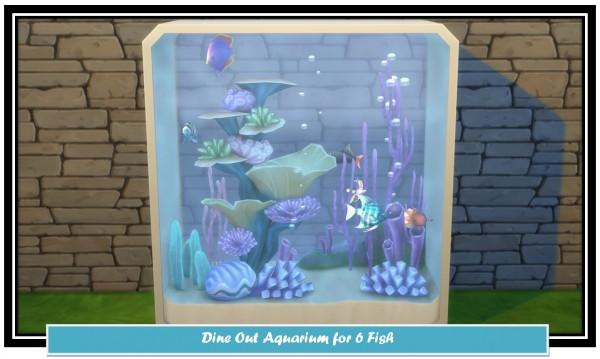 Mod The Sims: Dine Out 6 Fish Aquarium Clone by LittleMsSam