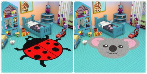 Annett`s Sims 4 Welt: Toddlers Rugs Animals
