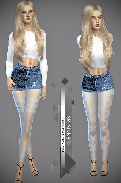 Jenni Sims: Black and white leggings