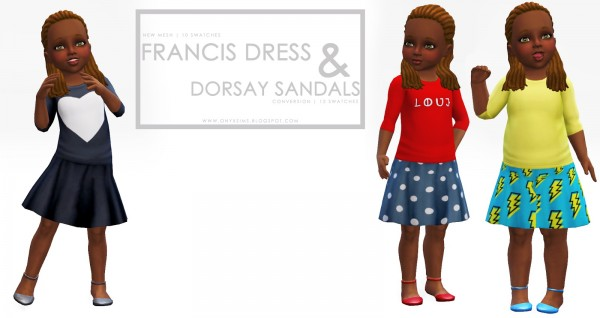 Onyx Sims: Francis Dress and dorsay sandals