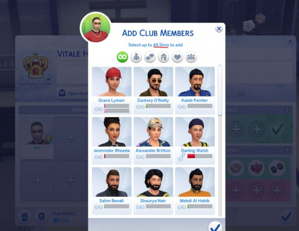Mod The Sims: More Club Members   20  up to 50 by Eurynome