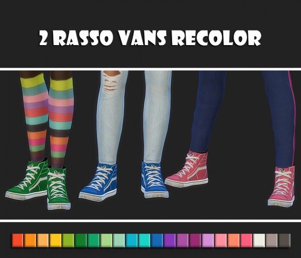 Simsworkshop 2 Rasso Vans Recolors By Maimouth Sims 4