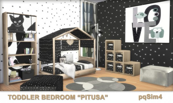 Pqsims4 Toddler Bedroom Quot Pitusa Quot Sims 4 Downloads