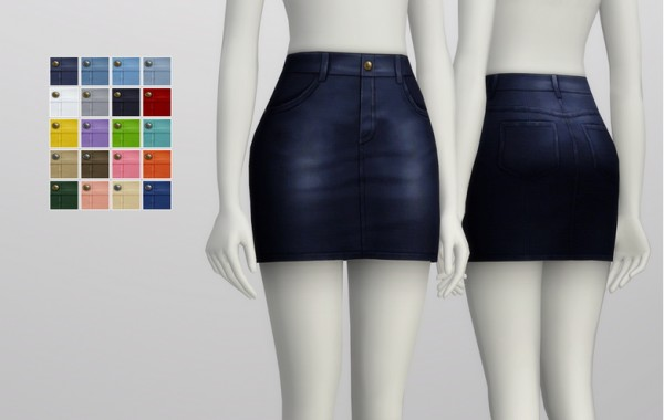Rusty Nail: High rise denim skirt   20 colors