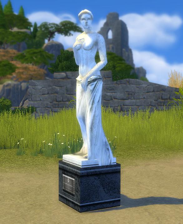 Simsworkshop: Life Stories Venus Reward Statue by BigUglyHag