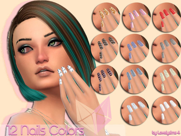 Simsworkshop: 12 Nails colors by MaKySeK1989