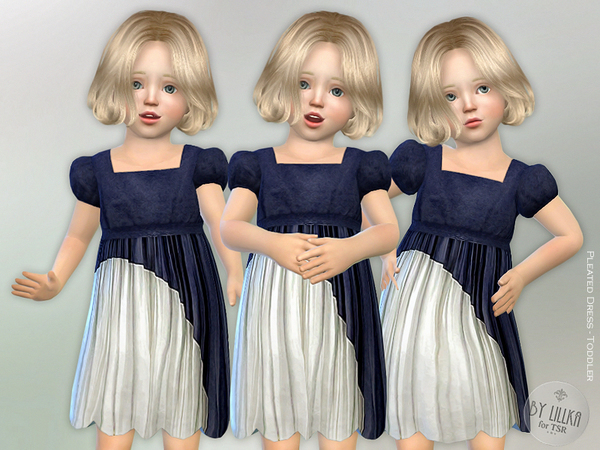 The Sims Resource: Pleated Dress   Toddler by lillka