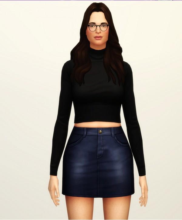 Rusty Nail: High rise denim skirt   20 colors