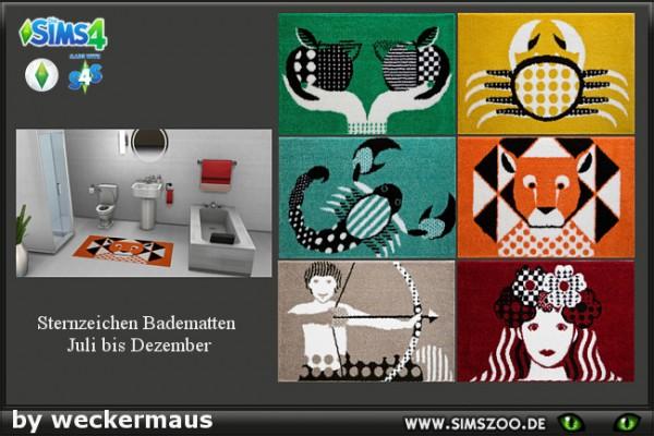 Blackys Sims 4 Zoo: Star sign bathroom rug 02 by weckermaus