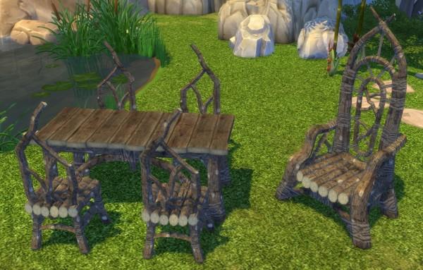 Simsworkshop: Fireflowers Dark Elf Basics set by BigUglyHag