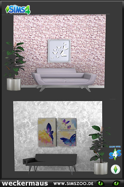 Blackys Sims 4 Zoo: Young People walls 02 by weckermaus