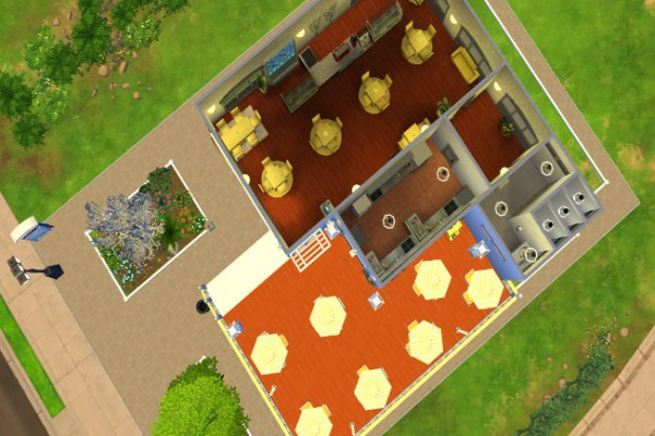 Blackys Sims 4 Zoo: Sunshine cafe by  LillyAngel1209