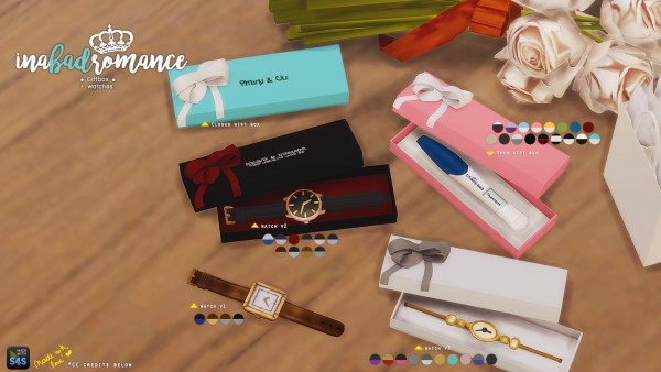 In a bad romance: Gift box: for pregnancy test and watches