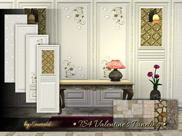 The Sims Resource: Valentines Paneling by emerald