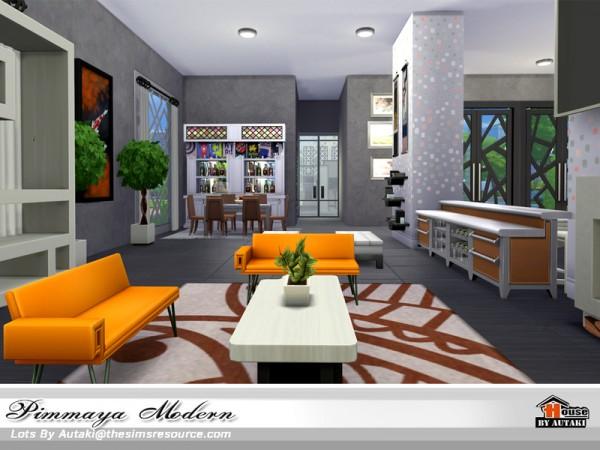 The Sims Resource: Pimmaya Modern house by autaki