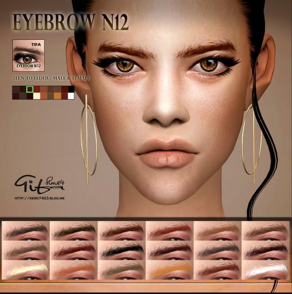 Tifa Sims: Eyebrows N12