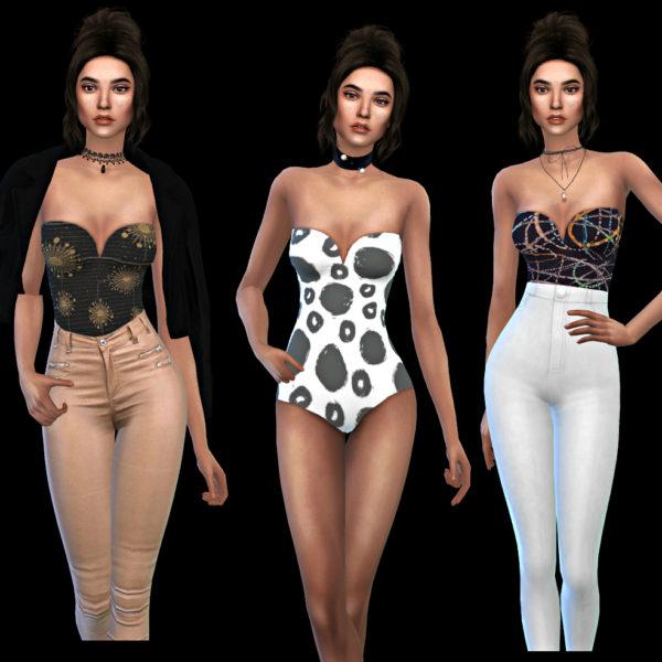 Leo 4 Sims: Elisque Bodysuit