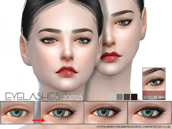 The Sims Resource: Eyelashes 201705 by S Club
