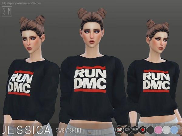 The Sims Resource: Jessica   Sweatshirt by Screaming Mustard