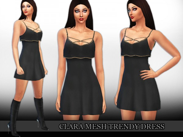 The Sims Resource: Clara Mesh Trendy Dress  by Saliwa