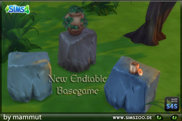Blackys Sims 4 Zoo: Stone table by mammut