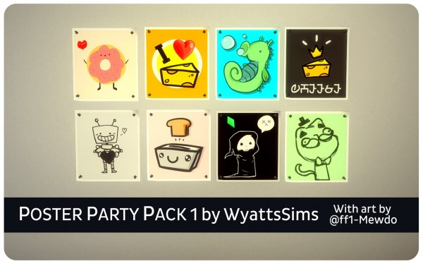 Simsworkshop: Poster Party Pack 1 by WyattsSims