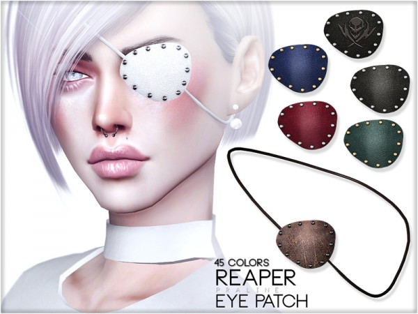The Sims Resource: Reaper Eye Patch by Pralinesims