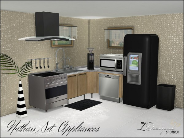 Sims 4 Designs: Nathan Set Appliances