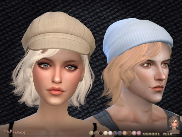 The Sims Resource: WINGS OS0321 hairstyle