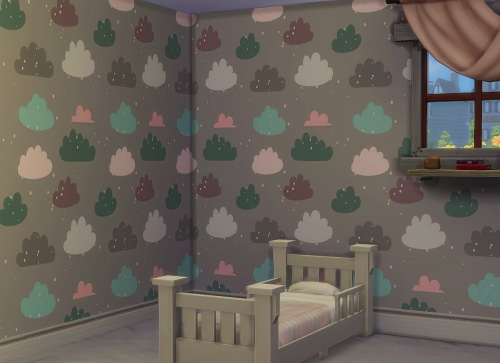 Chillis Sims: Pastel Clouds Wallpaper