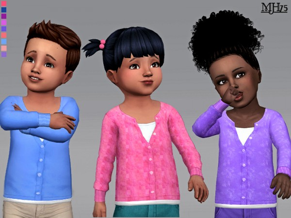 The Sims Resource: Cutie Tots Cardigan by Margeh 75