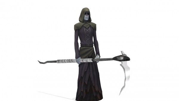 Mod The Sims: Grim Reapers Scythe as an acessory by leo morg
