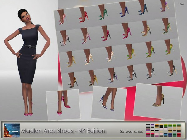Elfdor: Madlen`s Ares Shoes   Patterns  recolor