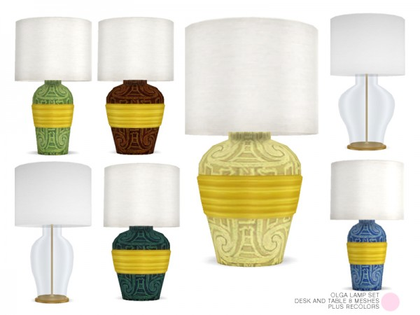 The Sims Resource: Olga Lamp Set by DOT