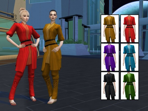 Sims Artists: Sith Dress Without Gloves