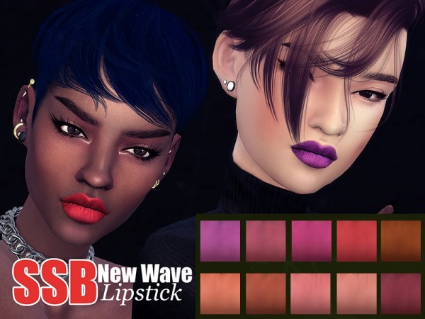 The Sims Resource: New Wave Lipstick by SavageSimBaby