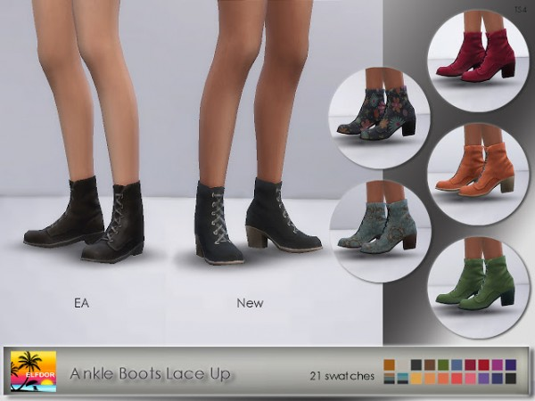 Elfdor: Ankle Boots Lace Up