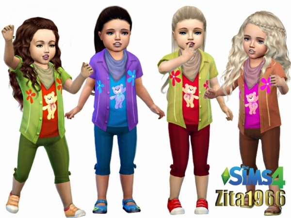 The Sims Resource: Bears and Flowers outfit by ZitaRossouw