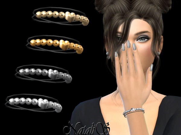 The Sims Resource: Heart beaded bracelet by NataliS