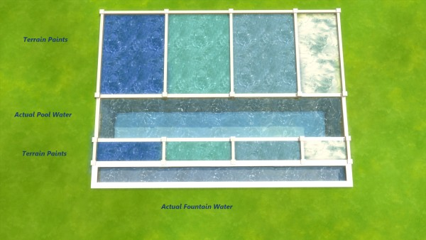 Mod The Sims: Water Unbound I   Pool Water Terrain Paints by Snowhaze