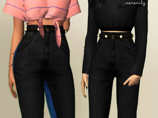 The Sims Resource: Pearl Jeans by serenity cc